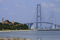 Great Belt Suspension Bridge, Denmark Stock Photos
