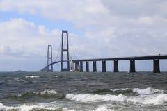 Great Belt Suspension Bridge Stock Photos