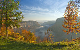 Great Bend Overlook At Letchworth State Park. In New York Just After Sunrise Stock Photography