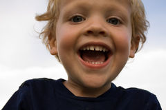 Great Big Smile. Little boy with a big smile on his face Royalty Free Stock Photography