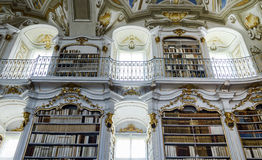 Great biggest library in old abbey Royalty Free Stock Images