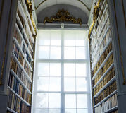 Great biggest library in old abbey Royalty Free Stock Photography