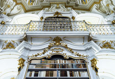 Great biggest library in old abbey Royalty Free Stock Image