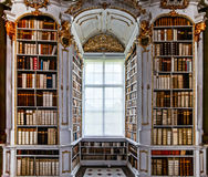 Great biggest library in old abbey Stock Photos