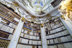 Great biggest library in old abbey Royalty Free Stock Photos