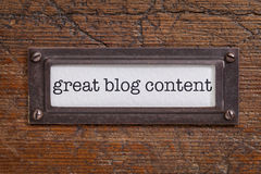 Great blog content  label Stock Photography