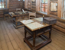 Great Boldino. Interior of patrimonial office in the museum reserve Pushkin. Boldino, Pushkin State Memorial Museum and Natural Reserve (Manor) Boldino is one of royalty free stock photography