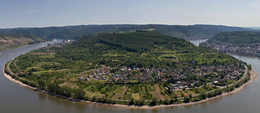 Great bow of the Rhine as seen from the Gedeonseck Royalty Free Stock Photo