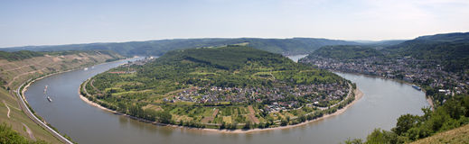 Great bow of the Rhine valley. Lookout Gedeonseck, Germany stock photo