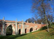 Great bridge across the ravine Royalty Free Stock Images