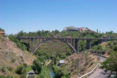 The great bridge in Yerevan. The Great Bridge of Hrazdan royalty free stock photos