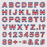 Great Britain alfabet Arkivbild