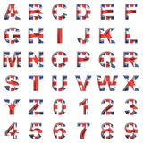 Great Britain alphabet on white background Royalty Free Stock Image