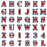 Great Britain alphabet on white background Royalty Free Stock Photo