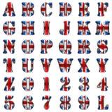 Great Britain alphabet on white background royalty free stock photo
