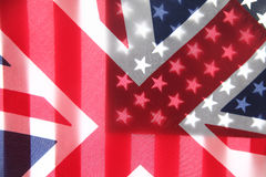 Great Britain and American flags Stock Photos