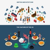 Great Britain Banners Set vector illustration