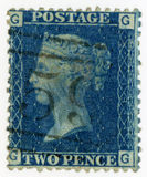 Great Britain cancelled stamp 1869 Queen Victoria Royalty Free Stock Photography