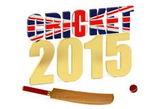 Great Britain 2015 Cricket concept. Isolated on white background Stock Image