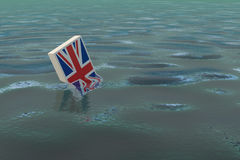 Great Britain `drowning` due to the Brexit. Will England survive the divorce from the European Union Stock Photos