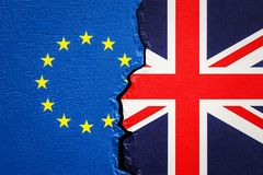 Great Britain and EU, Brexit concept. 3D Royalty Free Stock Photography