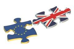 Great Britain and EU puzzles, Brexit referendum concept Stock Photo