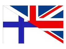 Great Britain and Finland flags. Vector file of Great Britain and Finland flags vector illustration