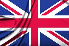 Great Britain flag background royalty free stock image