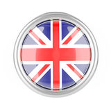 Great Britain flag button Stock Images