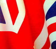 Great Britain flag detail Royalty Free Stock Photo