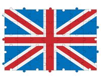 Great Britain flag in form of puzzle Stock Photo