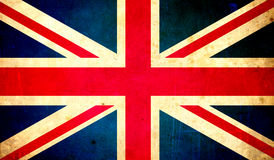 Great britain flag, grunge texture background Stock Photography