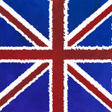 Great Britain flag with grunge texture Royalty Free Stock Image