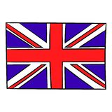 Great Britain flag icon cartoon. Great Britain flag icon in cartoon style isolated vector illustration Royalty Free Stock Images