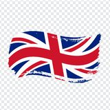 Great Britain Flag isolated. Flag of Great Britain, brush stroke background. Flag Great Britain on transparent background. Flag Un. Ited Kingdom for your web vector illustration