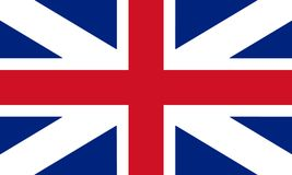 Great Britain Flag King`s Colours. Civil and State Ensign 3D ill. Ustration vector illustration