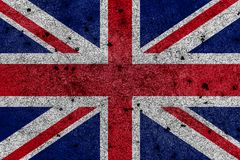Great Britain flag, known as Union Jack, painted on grunge wall royalty free illustration