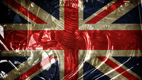 Great britain flag on old background retro effect Stock Photos