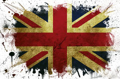 Great Britain flag paint Stock Photos