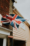 Great Britain flag. On wall of historic building Royalty Free Stock Photos
