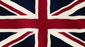 Great Britain flag waving animation. Full Screen. Symbol of the country. 4K stock video