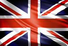 The Great Britain Flag in the wind royalty free stock image