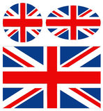 Great Britain flags. Vector file of Great Britain flags Royalty Free Stock Photography