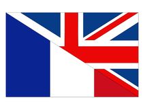 Great Britain and France flags. Vector file of Great Britain and France flags stock illustration