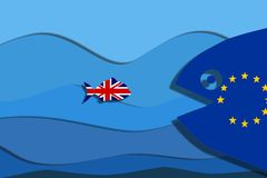 Great Britain free fish. Brexit concept vector illustration