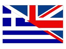Great Britain and Greece flags royalty free illustration