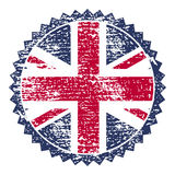 Great Britain grunge stamp with union flag. Vector illustration royalty free illustration