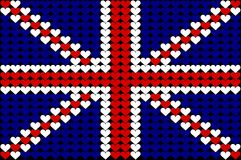 Great Britain heart flag. An illustration of Union Jack Royalty Free Stock Image