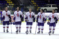 Great Britain Ice-hockey team Royalty Free Stock Photos
