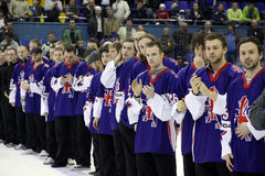 Great Britain ice-hockey team Stock Image